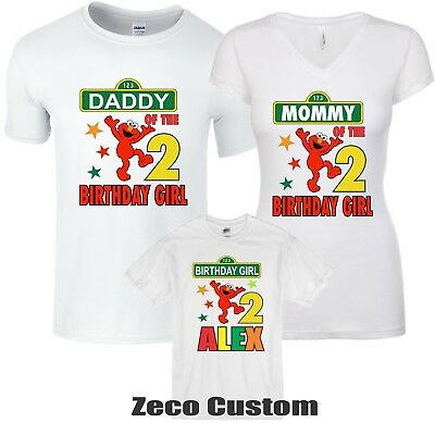 f7b7e4ee Elmo birthday Girl T-shirt personalized Custom age, name family Cool Shirts