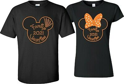 FAMILY VACATION Disney New 2019 Mickey & Minnie T-Shirts ALL SIZES Halloween