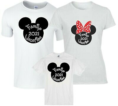 FAMILY VACATION Disney New 2018 Mickey & Minnie T-Shirts ALL SIZES 12 MONTH-4XL