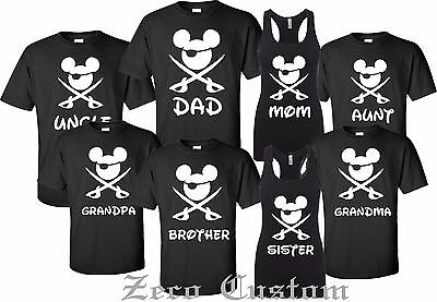 Disney FAMILY Pirate Minnie & MICKEY - Mouse Customized Printed T-shirt