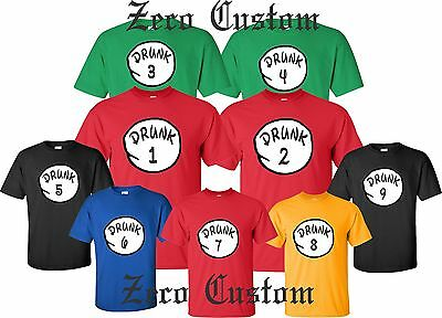 Drunk 1 Drunk 2 T Shirt Drinking Party Bar Tee Beer ALL SIZES Christmas custom