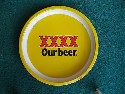 Xxxx Our Beer,  Beer Tray Vintage Retro  Metal, Drinks, Serving, Man Cave Used