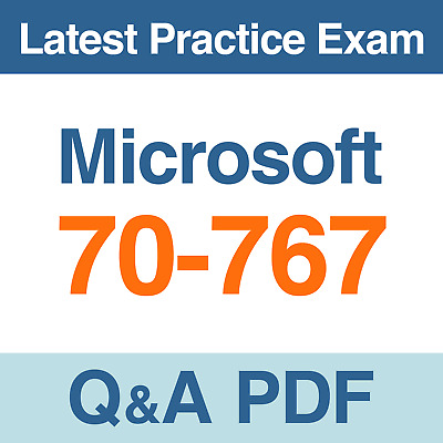 Microsoft Practice Test 70-767 Implementing a Data Warehouse SQL Exam Q&A PDF
