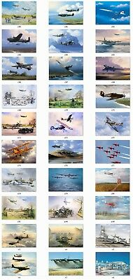 Vintage Artist Classic Plane Aviation Blank Cards Job Lot 30 variations 1 to 450