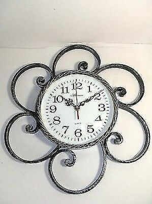 Wall clock quartz wrought iron forged hand MADE in ITALY