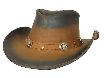 Thor Equine Leather Hat Cowboy Hat Western Hat, Midland Two Tone, S-XL