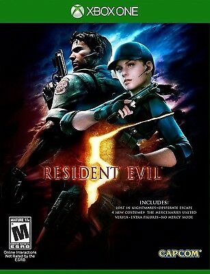 Xbox One game Resident Evil 5 HD NIP Package Shipping