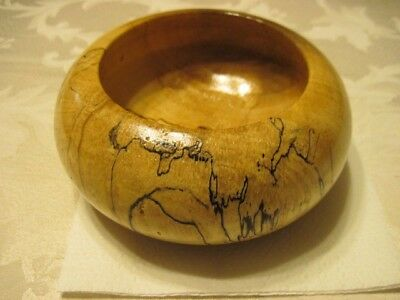One Of A Kind Hand Turned Wooden Bowl Made From Kiln Dried Spalted Maple
