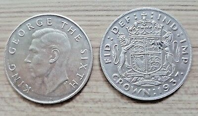 1937 Crown King George The Sixth Great Britain coin