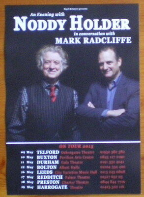 "Noddy Holder ""in Conversation"" 2013 Uk Tour Flyer"