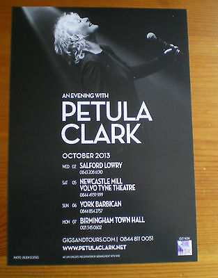 "Petula Clark ""an Evening With"" 2013 Uk Tour Flyer"