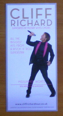"Cliff Richard ""midsummer Nights"" 2013 Uk Tour Flyer"