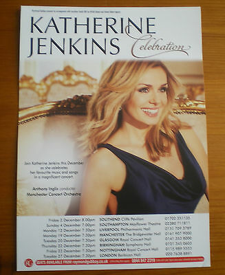 "Katherine Jenkins ""celebration"" 2016 Uk Tour Flyer"