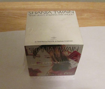 1997 Shania Twain Photo Come on Over Country Music Promo Paper Cube