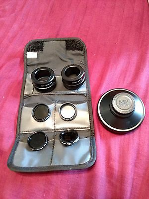 Nikon converter lot - WC-E63, UR-E2 (x2) & 28mm UV, CPL, ND4, ND8 filters, cases