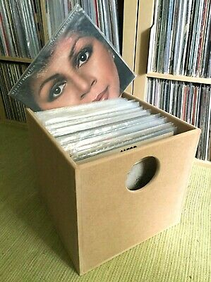 """Vinyl Records Storage Box Cube for LP + 12""""  - Fully assembled crate - Holds 100"""