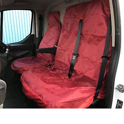 2008 IVECO DAILY 35C12 4100 XLWB 120PS 2+1 RED WATERPROOF VAN SEAT COVERS