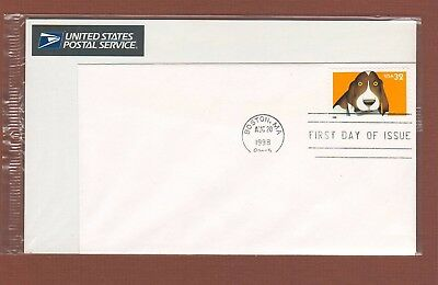 Basset Hound First Day Cover dog stamp, United States 1998