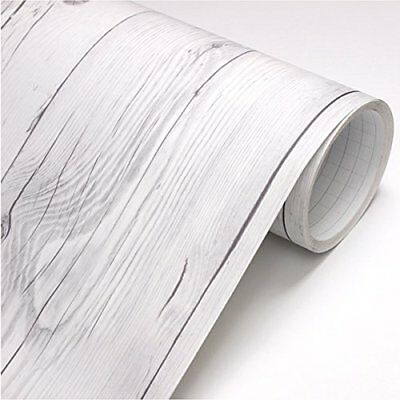 Vintage Wood White Wood Self Adhesive Vinyl Decorative Cover Wallpaper Rolls New