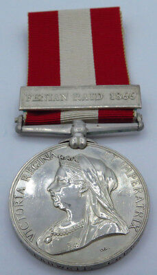 Canada General Service Medal Fenian Raid 1866 Issued to Gr. E Pauwell, Coburn GA