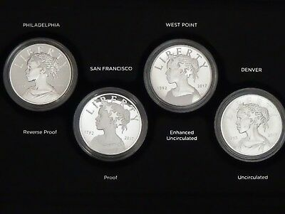 2017 US American Liberty Silver 225th Anniversary Four Medal Set