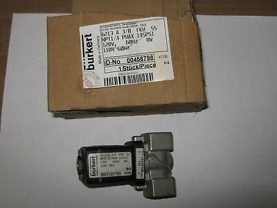 Burkert 00458798 Type 6213 2/2-Way Solenoid Valve, New