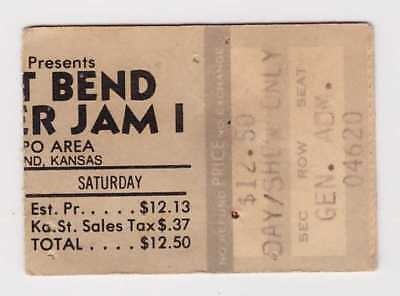 Great Bend Summer Jam I- 8-5-78 - Van Halen -Alvin Lee- 1978 concert ticket stub