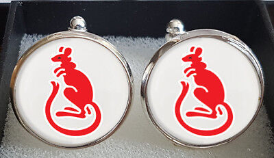 Desert Rats (DR) 7th Armoured Division Cufflinks - A Great Gift