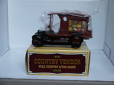 AVON VINTAGE COUNTRY VENDOR with WILD COUNTRY AFTER SHAVE  - NIP  RARE