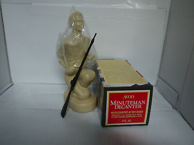 AVON VINTAGE MINUTEMAN DECANTER with WILD COUNTRY AFTER SHAVE   -  RARE