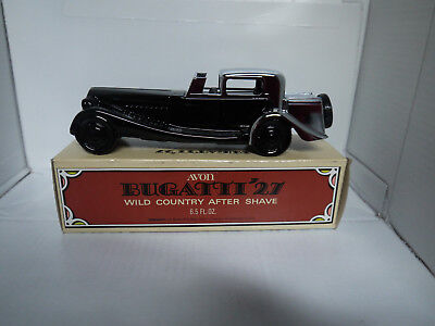 AVON VINTAGE BUGATTI '27 DECANTER with WILD COUNTRY AFTER SHAVE   -  RARE