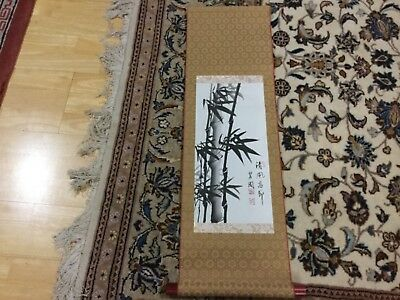 84 x 26 cm HANDPAINTED Chinese scroll wall hanging VGUC surplus to need