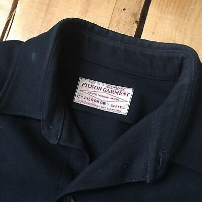 C.C. FILSON RARE VINTAGE WOOL SHIRT/JACKET Size XL 100% Virgin Wool