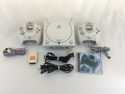 Sega Dreamcast Console Bundle - 2 Controllers, Memory Card, Cords Tested