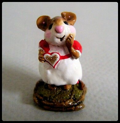 Wee Forest Folk Girl Sweetheart (red/gold) M-080 *Special Collector's Haven*