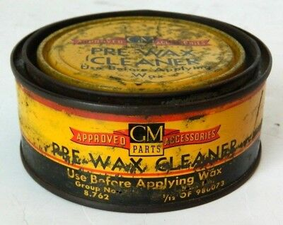 Vintage GM Pre-Wax Cleaner Can #980073 (Rough), Chevy, Buick, Olds, Cadillac