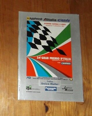 1983 Programm Italy Grand Prix F1 Monza # Piquet Arnoux Cheever Lauda Patrese