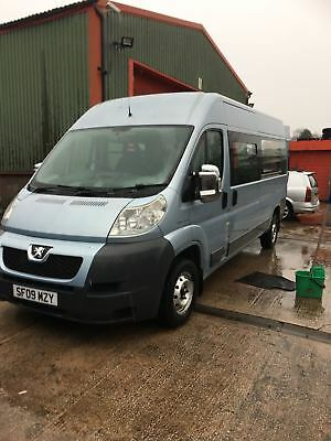 2009 peugeot boxer 6 seater minibus with manual wheelchair ramp