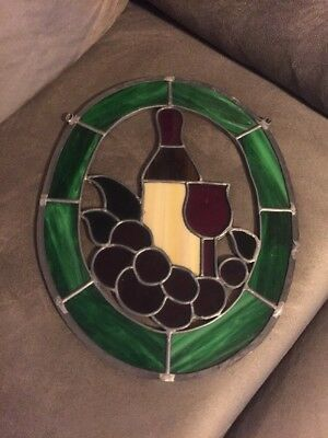 stain glass window hanging
