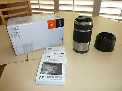 SONY E Mount SEL55210 55-210mm f/4.5-6.3 OSS Lens (Silver) - Excellent