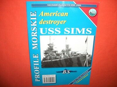 Warships - BS Profile Morskie 142, American Destroyer USS SIMS