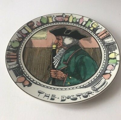 "Royal Doulton The Doctor Plate 10 1/2"" TC 1048"