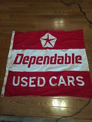 Vintage Chrysler Used Car Flag Annin & Co