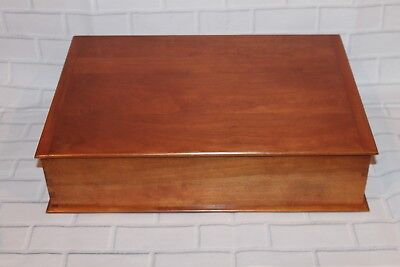"""Vintage Maple Wood Lap Desk With Pullout Drawer -Mint Condition 18"""" Long"""