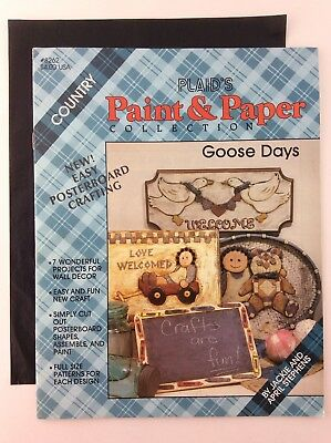 Goose Days Country Paint Collection Book Decorative Painting FolkArt Patterns