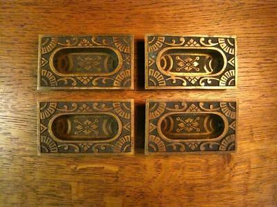 Vintage Antique Eastlake Window Sash Lifts Lot of 4 Solid Brass Bronze
