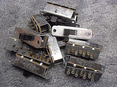 NOS -- Lot of 10 -- Stackpole DPDT 3 position slide switches