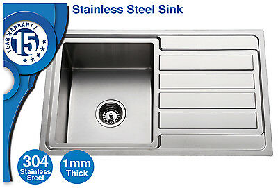 304 Stainless Steel Kitchen Sink single Top mount kitchen/Laundry Handmade 1.0MM