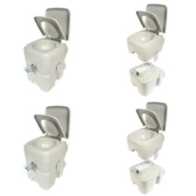 Camco Portable Toilet 5.3 Gallon Porta Potty Boating Flushing Camping Rv White