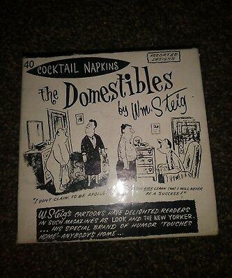 Vintage Cocktail Napkins The Domestibles By WM Steig 40 Count